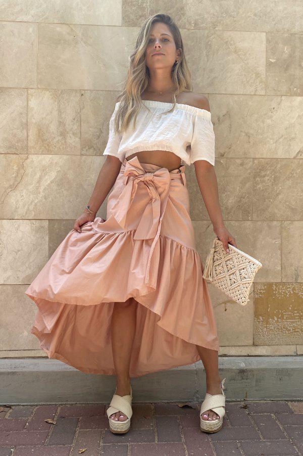 חצאית HIGH-LOW מעטפת