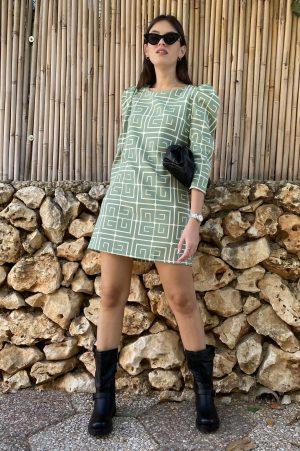שמלת מיקי   מיני גאומטרית